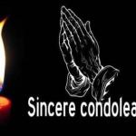 Sincere condoleanțe familiei Răducu Pop