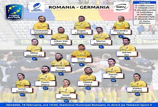 România – Germania echipele probabile